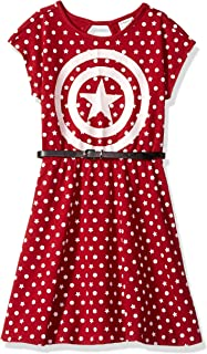 Girls' Captain America Dress with Belt