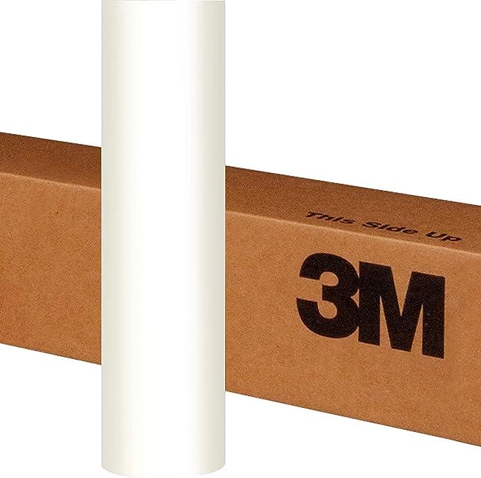 3M 1080 Satin White Air-Release Vinyl Wrap Roll 1//2ft x 5ft