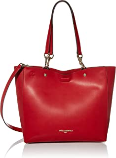 Karl Lagerfeld Paris Adele Applique Tote Bag, Deep Crimson