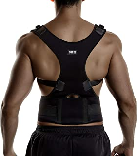 Back Brace Posture Corrector Spinal Support for Women and Men, Lumbar Shoulder Posture Correction for Upper and Lower Back Support, Adjustable Neoprene Belt Strap for Relief Back Pain (Large)