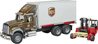 Bruder 02828 Mack Granite Ups Logistics Truck with Forklift Vehicles - Toys