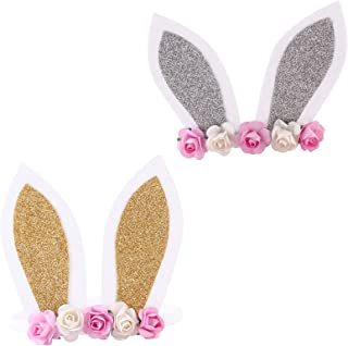 Easter Baby Bunny Headband Flower Easter Day Headdress Rabbit Ear Hairband JHE11