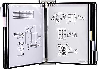 Tarifold Fr 414107 – Support Kit Mural document Tarifold métal, 10 pochettes A4 Noir, Présentation documents