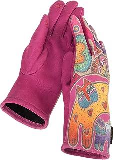Patterned Suede Gloves