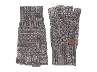 Frye Marled Cable Gloves (Medium Heather Grey) Over-Mits Gloves