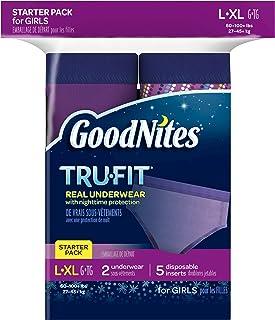 GoodNites Tru-Fit Underwear Starter Pack for Girls, L-XL