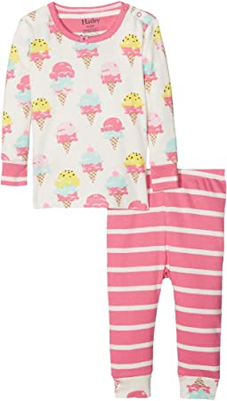 Hatley Kids Ice Cream Treats Long Sleeve Mini Pajama Set (Infant)