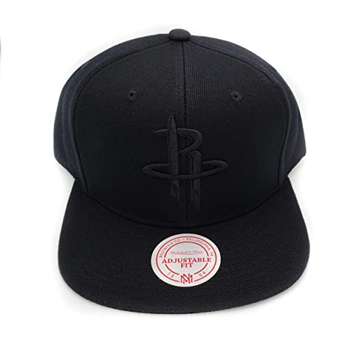 watch 4bc8a 2ea9e ... order mitchell ness houston rockets black on black hwc current solid  wool adjustable snapback hat nba