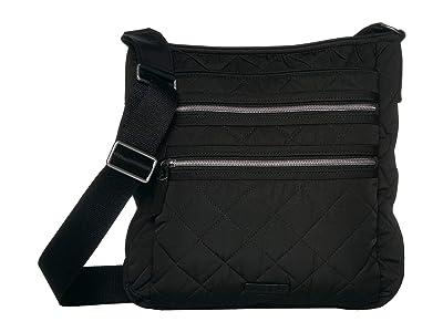 Vera Bradley Performance Twill Triple Zip Hipster (Black) Handbags