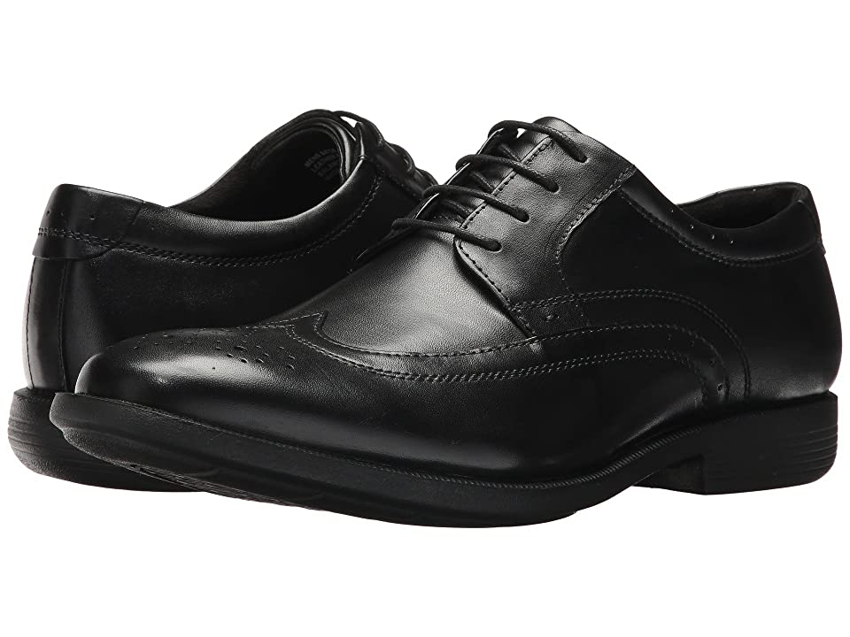 Nunn Bush Decker Wingtip Oxford with KORE Walking Comfort Technology (Black) Men
