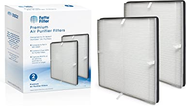 Fette Filter - True HEPA Air Purifier Filter Compatible with Vornado. Compare to Part # MD1-0022. (Pack of 2)