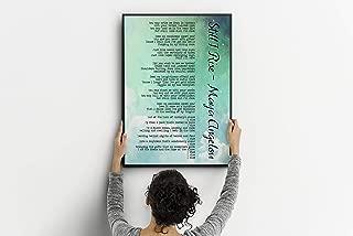 Les Connie Still I Rise Maya Angelou Poem Feminist Art Wall Art self Respect Quote Bedroom Decor Office Decor Dorm Decorations Watercolor