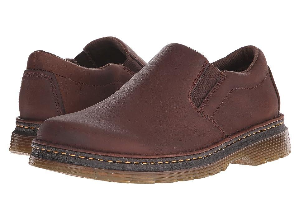 Dr. Martens Boyle Slip-On Shoe (Dark Brown Grizzly/Hi Suede WP) Men
