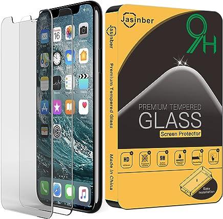 Jasinber [2-Pack] Mica de Vidrio Cristal Templado para iPhone X/XS