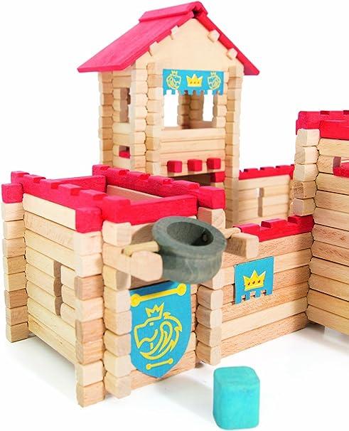 Jeujura chateau fort avec personnages montage facile Le Château en Bois