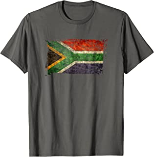 Unique Trendy Vintage South Africa Flag Gift T-shirt G003748