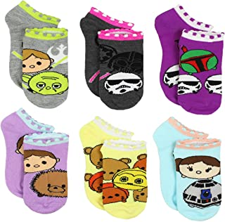 Tsum Tsum Star Wars Girls Womens 6 pack Socks (Little Kid/Big Kid/Teen/Adult)
