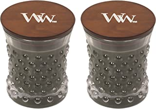 WoodWick Vintage Hobnail Candle Set - Evening Bonfire
