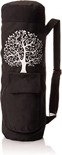 BalanceFrom BFGYFM6BLK Goyoga Full Zip Exercise Yoga Mat Bag with Multi-Functional Storage Pockets