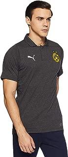 Puma Men's Plain Regular Fit Active Base Layer Shirt (75352305_Dark Grey Heather_Medium)