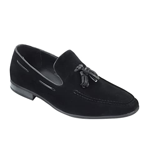 061208185b029 Xposed Mens Faux Suede Leather Tassel Loafers Smart Casual Formal Driving  Slip on Shoes
