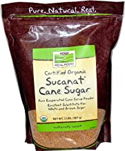 NOW Foods Organic Sucanat Cane Sugar-2 lb Bag