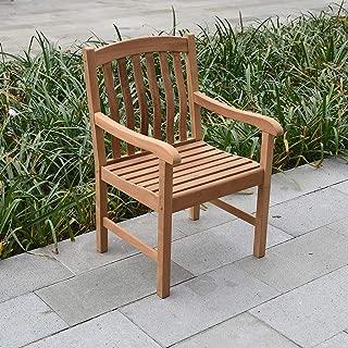 Cambridge-Casual AMZ-120111T Arie Teak Dining Chair, Natural
