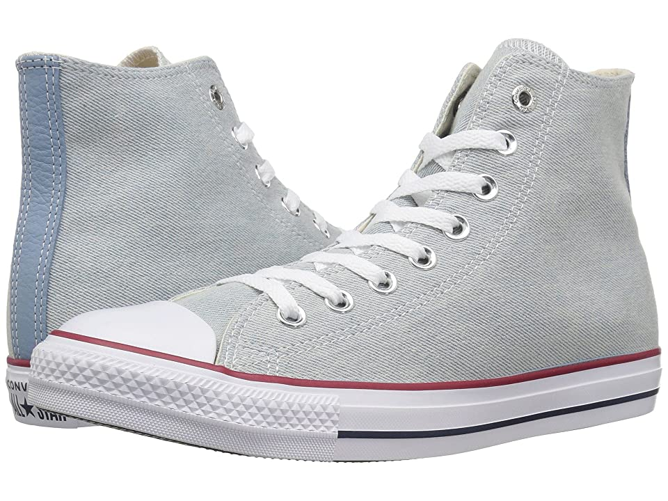 Converse Chuck Taylor All Star Worn In Denim Hi (Light Blue/White/Brown) Shoes
