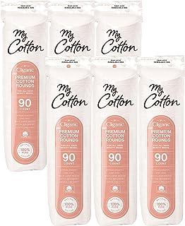 پنبه ممتاز پنبه من برای صورت (540 تعداد) | پد های پاک کننده آرایش ، ضد حساسیت ، بدون پرز | 100٪ پنبه خالص