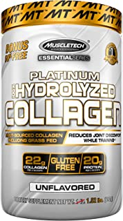 Collagen Peptides Powder | MuscleTech Hydrolyzed Collagen Powder | Collagen Supplements for Women and Men | Collagen Prote...