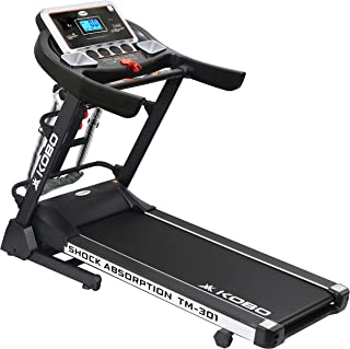 """Kobo Fitness 3 H.P (TM-301) Motorized Manual Incline with Massager Treadmill with 5"""" LCD Display and Free Installation Ass..."""