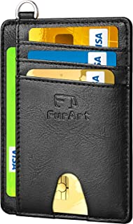 Slim Minimalist Wallet, Front Pocket Wallets, RFID Blocking, Credit Card Holder with Disassembly D-Shackle
