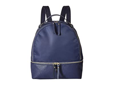 Lipault Paris Plume Avenue Small Backpack (Night Blue) Backpack Bags