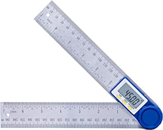 HANMATEK Digital Angle Finder Protractor with Zeroing and Locking Function, 7-Inch Stainless Steel Angle Finder Ruler, Digital LCD Display, for Woodworking, Construction, Repairing