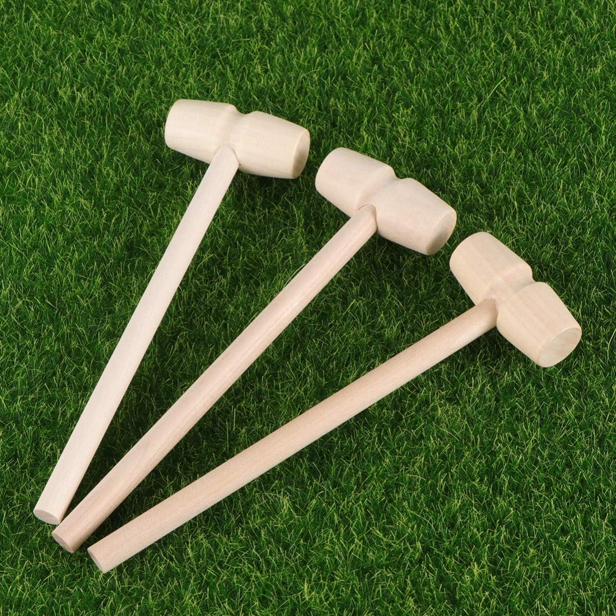Stile 1 STOBOK Mini Mazze da Martello in Legno da 12 Pezzi Mazze da Martello per Cuore Spezzabile di Cioccolato
