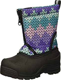 Northside Girls' Icicle Snow Boot, Purple/Turquoise, 6 Medium US Toddler