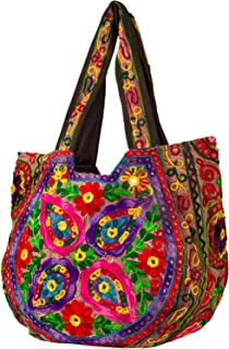 TribeAzure Brown Handmade Floral Shoulder Bag Women Fashion Handbag Tote Casual Summer Spring Top Handle