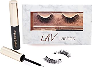 Sponsored Ad - Magnetic Eyelashes with Eyeliner - False Lashes Easy to Use Natural Look by LAV Lashes