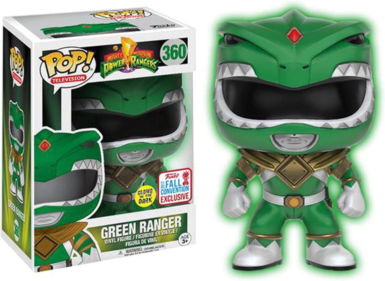 Funko - Figurine Power Rangers Mighty Morphin - Grün Ranger Glows in The Dark Fall Convention Exclusice 2017 Pop 10 cm - 0889698151757