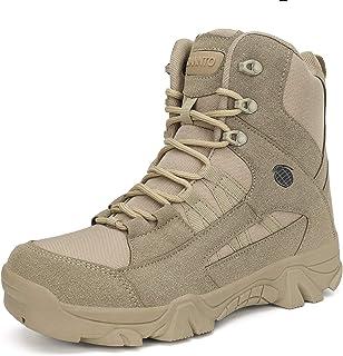 Dannto Stivali Militari da Uomo Tactical Stivali da Lavoro Army Stivali da Trekking Stivali Traspiranti per Outdoor Campeg...