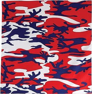 red camouflage bandana