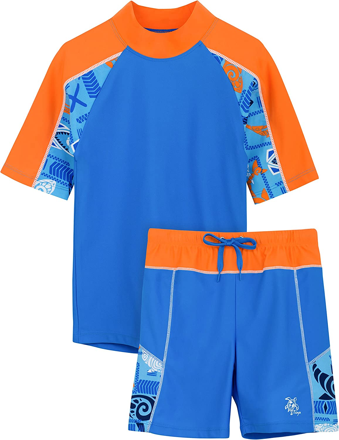 Tuga Boys Max 43% OFF Two-Piece Short Sleeve Swimsuit Years Attention brand UPF 2-14 50 Set