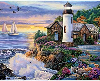 Best Bits and Pieces - 300 Large Piece Jigsaw Puzzle for Adults - Perfect Dawn, Sunrise by The Ocean - by Artist Laura Glen Lawson - 300 pc Jigsaw Review