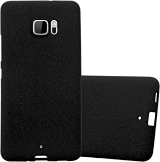 Cadorabo Case Works with HTC U Ultra in Frost Black – Shockproof and Scratch Resistant TPU Silicone Cover – Ultra Slim Protective Gel Shell Bumper Back Skin