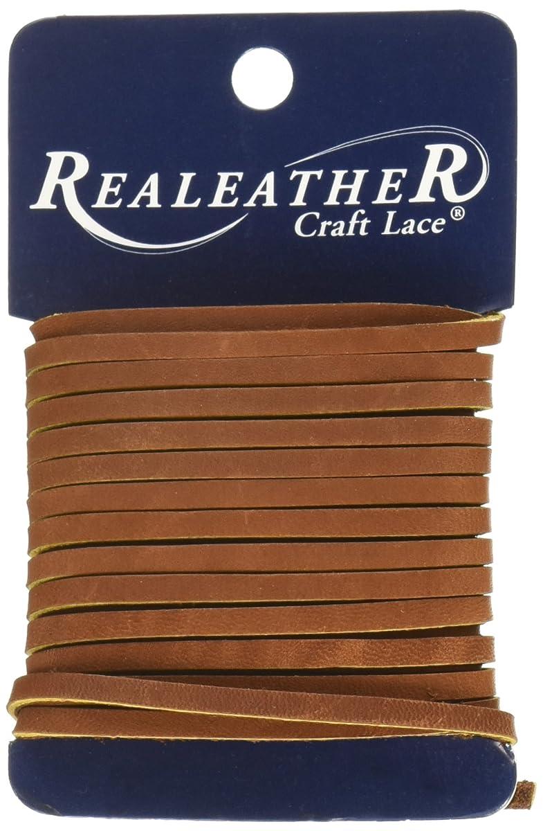 Realeather Crafts Medium Brown Carded Latigo Lace, 0.125 by 4 yd