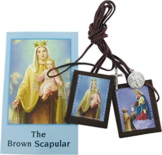 Westman Works Traditional Brown Scapular Catholic Prayer Kit with Paperback Book