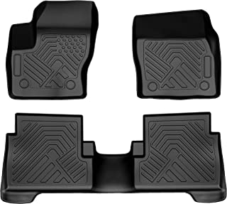 COOLSHARK Ford Escape Floor Mats, Waterproof Floor Liners Custom Fit for 2015-2019 Ford Escape,1st and 2nd Row Included-All Weather Heavy Duty Rubber Floor Protection,Black