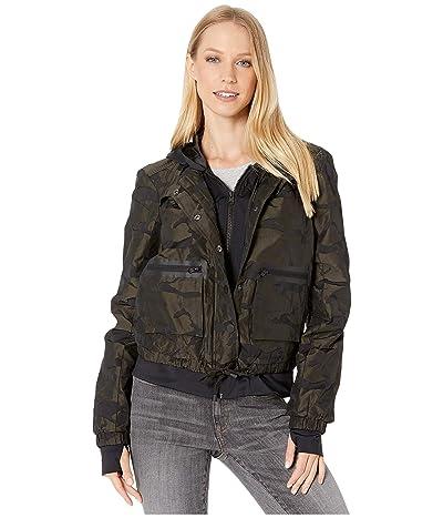 Blanc Noir Skyfall Aviator Jacket (Olive Camo) Women
