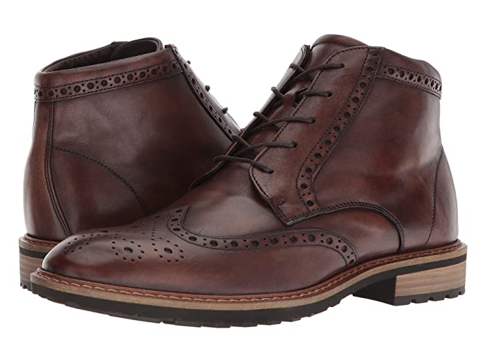 ECCO  Vitrus I Wingtip Boot (Nature) Mens Dress Lace-up Boots