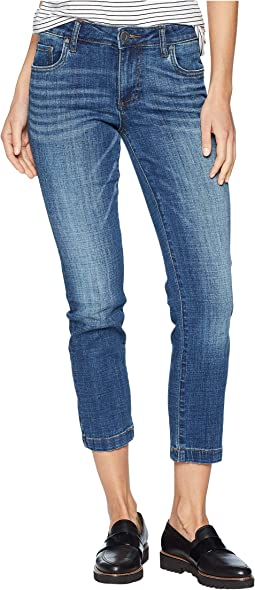 Lauren Ankle Straight Leg Wide Hem Jeans in Please